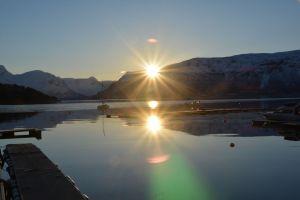 Sonnenaufgang in Lyngseidet