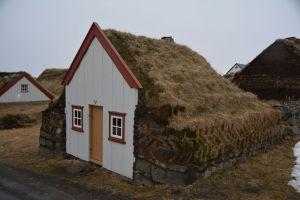 Erdbedeckte Häuser