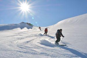 Abfahrt vom Steinfjellet