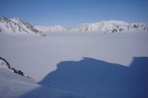 riesige Gletscherebenen