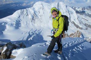 Heidi auf der Dufourspitze 4634 m