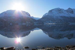 Spiegelung im Fjord