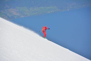 Abfahrt vom Volcán Osorno