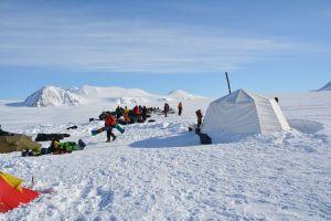Ankunft im Zeltlager